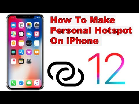 How to Create a Personal Hotspot on an iPhone ios 12 ios 13