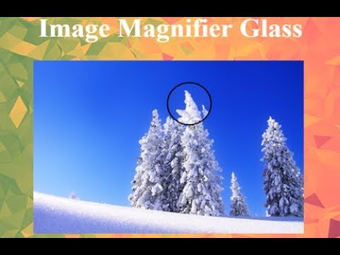 Easy image magnifier using css