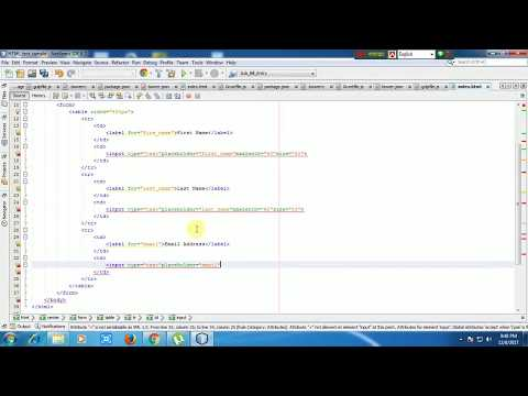 How to create HTML Form in Netbeans with source code