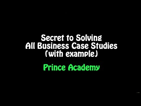 Only secret you need to know to solve all Business Case Studies (with Example)