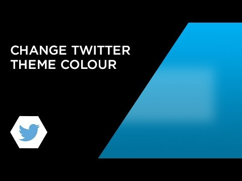Change Twitter Theme Colour Mid-2016