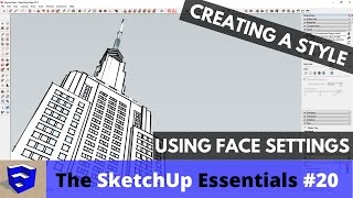 Using Backgrounds and Overlays in SketchUp Styles - The
