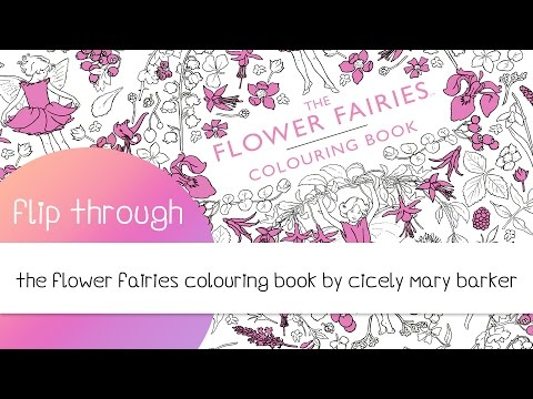 The Flower Fairies Adult Coloring Book by Cicely Mary Barker Flip Through
