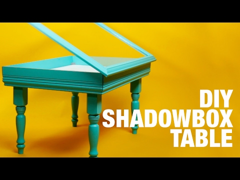 DIY Shadowbox Table