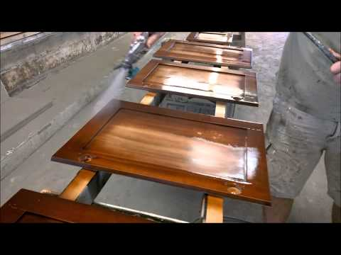 Walnut with Cherry Highlights - How to Refinish Cabinets - Kwik Kabinets