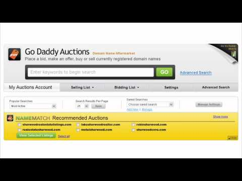 GoDaddy Presents - Sell Your Domains via Auctions and Aftermarket
