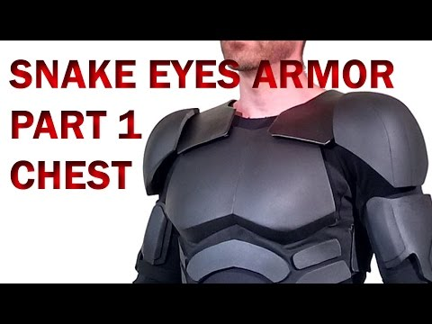Snake Eyes GI Joe Retaliation How To DIY Part 1 Foam Armor - Chest and Abs Fabrication