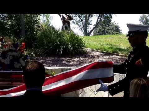 Dad's military burial