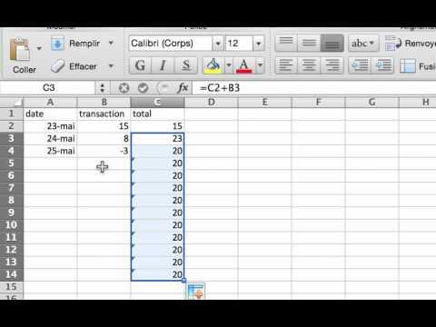 Excel: Création de formule pour gérer un budget