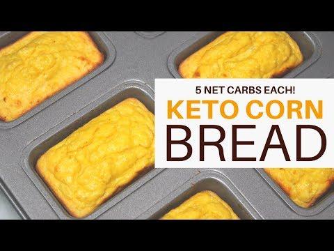KETO CORNBREAD   5 NET CARBS PER MINI BREAD    GRAIN + GLUTEN + SUGAR FREE   #ketogenicdiet   #lchf