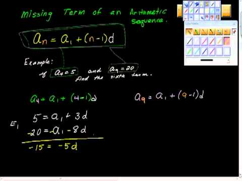 Finding the Missing Term of an Arithmetic Sequence