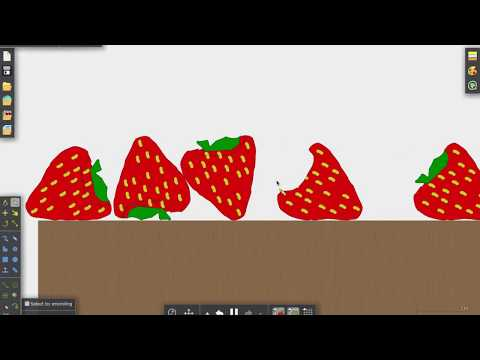 How to make a strawberry milkshake! - Algodoo