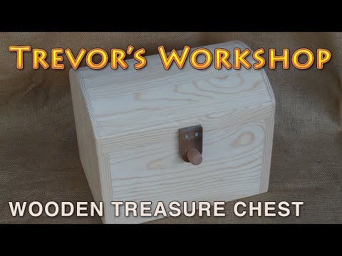 pirate treasure chest with wooden hinges