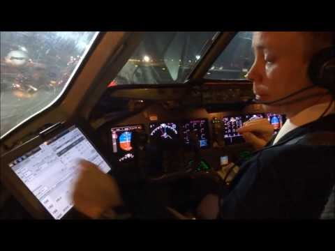 Flying Lufthansa Cargo MD 11F from Frankfurt to New York JFK incl  full cockpit landing!