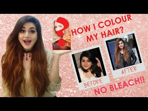 How I Colour My Hair | Black To Brown Hair Without Bleach | Glossips