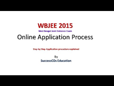 West Bengal WBJEE 2015 online application process