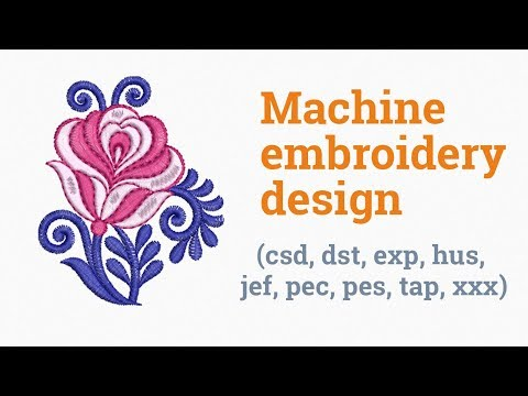 Rose flower. Machine embroidery design (emb, csd, dst, exp, hus, jef, pec, pes, tap, xxx)