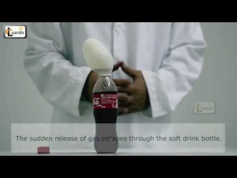 Self inflating balloon using soda or Coca Cola - Science experiments for kids