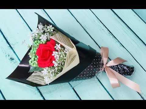 ABC TV | How To Make Flower Bouquet With Single Rose #6 - Craft Tutorial