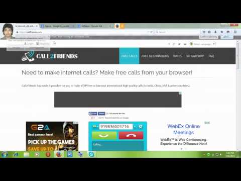 How to Make Free Calls From Pc/Computer to land Phone or Mobile Part 1of 2