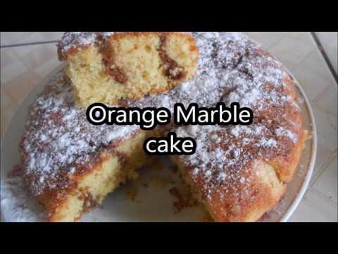 Orange chocolate marble cake recipe Recette de gâteau en marbre orange et chocolat