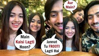 Jannat Zubair LIVE With Faisu New Song FRUITY LAGDI HAI Reaction
