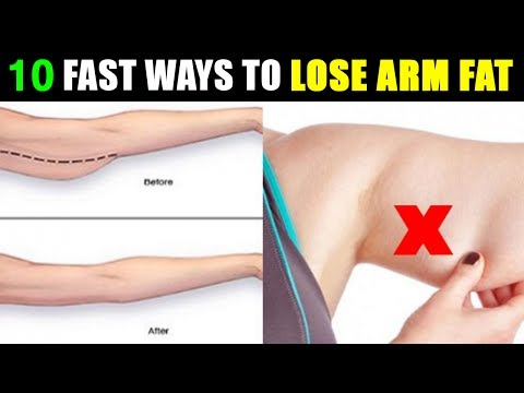 10 Fast ways to Lose Arm Fat