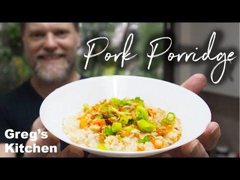 Pork Rice Porridge Congee Recipe - Greg's Kitchen Leftovers