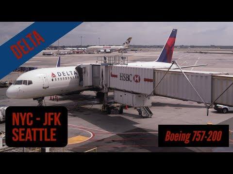 New York (JFK) Seattle - Delta - full flight