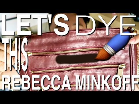 THRIFTED REBECCA MINKOFF BAG RE-DYE