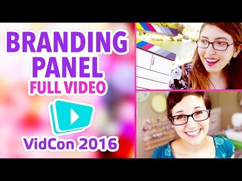 How To Brand Your YouTube Channel | Full VidCon 2016 Panel | @karenkavett