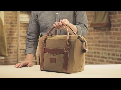 The Cooler | Waxed Canvas & Leather Cooler Bag