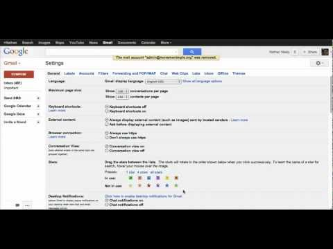 Setting up multiple email accounts in gmail