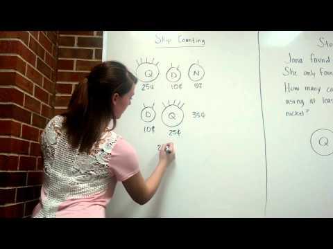 Teaching 2nd grade to skip count using money