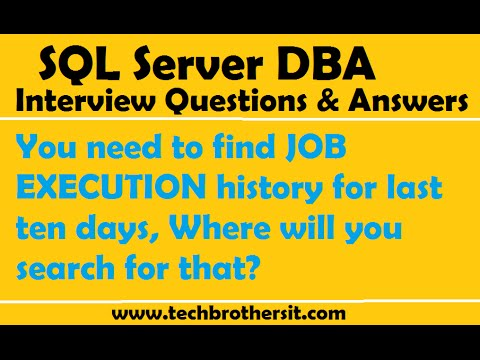 You need to find JOB EXECUTION  history for last ten days, Where will you search for that
