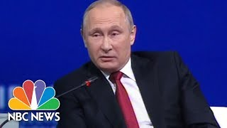 vladimir putin quizzed by megyn kelly over russian involvement in us elections nbc news