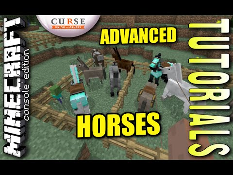 MINECRAFT - PS3 - ADVANCED HORSES - HOW TO - TUTORIAL - ( PS4 / XBOX / PC / VITA )  UPDATE