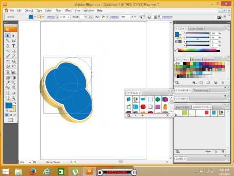 abode illustrator cs3 tutorial in urdu-hindi part 5. make simple 3d logo