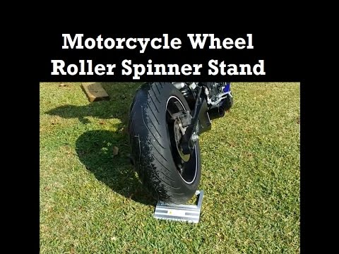 $35 Motorcycle Wheel Roller Stand Spinner - How to Lube a Chain Clean Wheels FAST