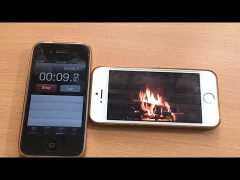 iPhone 5s - iOS 11.2.5  battery life test playing youtube