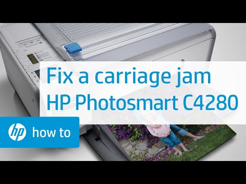 Fixing a Carriage Jam - HP Photosmart C4280 All-in-One Printer
