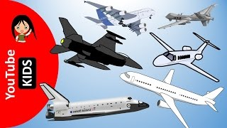 Learn Air Vehicles and Aircraft Names and Sounds - YouTube Kids