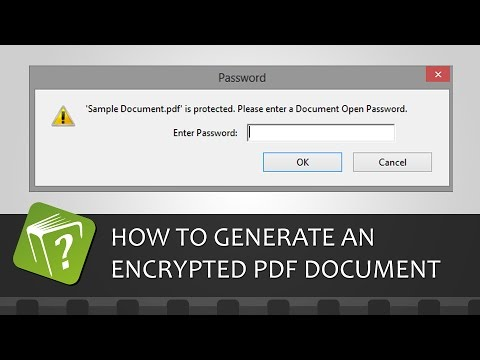 How to generate an encrypted password-protected PDF document (Step-by-step guide)