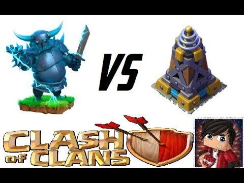 Clash of Clans - Супер Пекка VS Мега Тесла