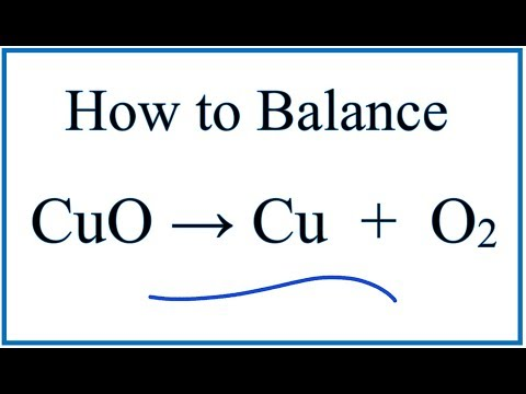 How to Balance Copper plus Oxygen Gas