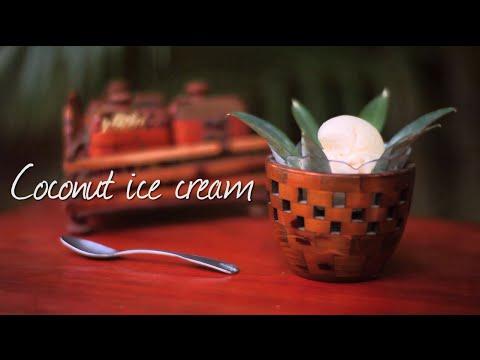 Coconut ice cream - Homemade ice cream recipe video