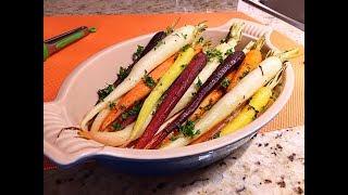 Roasted Rainbow Carrots Recipe • Colorful \u0026 Tasty Side! - Episode #399