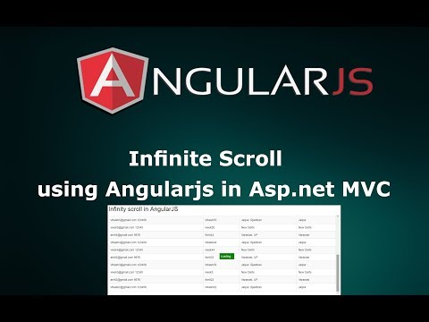 Infinite scroll using AngularJS in Asp.net MVC