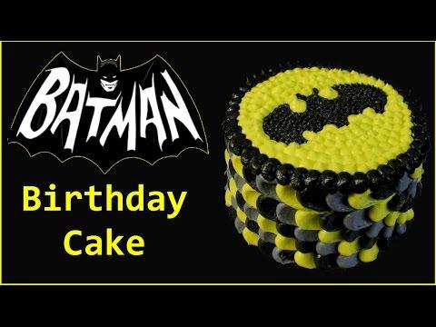 Batman Birthday Cake - Buttercream Frosting