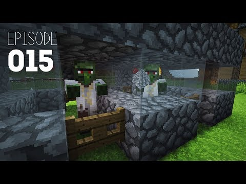 Minecraft Lets Play EP15 | Waterwheels + Zombie Villagers!  (1.12 Single Player)